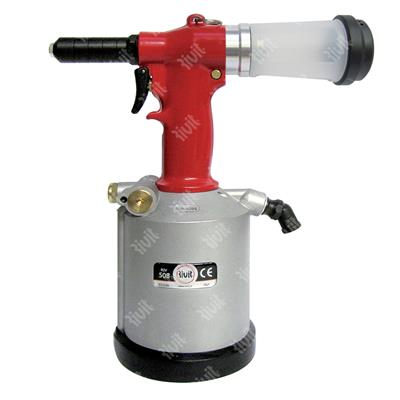 RIV508-Hydropneumatic tool in case without kit (kit to be ordered separately from d.5,0 to d.7,8)